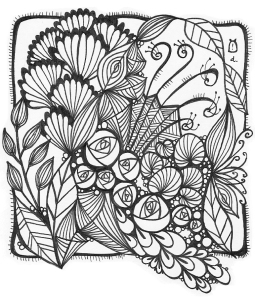 Zentangle art . copyright . Debbie New